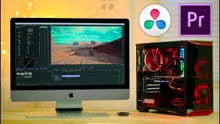 $1350 PC vs $5000 iMac PRO for Video Editing 😲 Premiere & Resolve