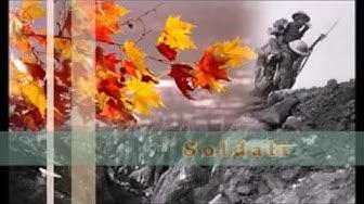 Ungaretti- Si sta come d'autunno sugli alberi le foglie (Soldati)
