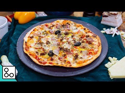 Pizza bœuf poivrons  - Youcook