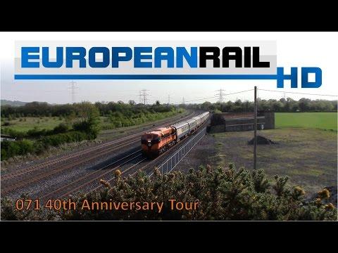 Iarnród Éireann Irish Rail 071 Locomotive 071 CIE 40 Years Livery + Cravens pass Stacumny Bridge