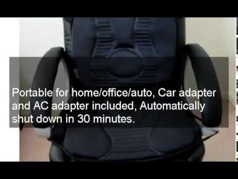 New Portable 10-Motor Massage Seat Cushion Auto Office Heat Back Lumbar Chair