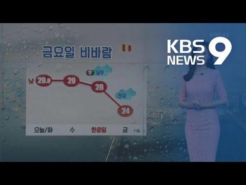 [날씨] 내일도 남부 33도 안팎…금요일 전국 강한 비바람 / KBS뉴스(News)
