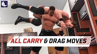 WWE 2K18 - All Carry & Drag System Move and Animations
