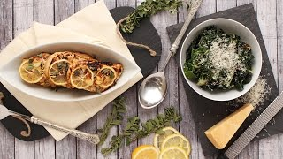 Lemon And Garlic Chicken With Swiss Chard