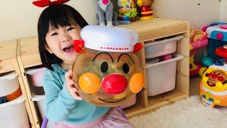 アンパンマンおままごとセットで赤ちゃんのお世話ごっこ!大量のチョコがおもちゃに!?Anpanman Playhouse set toys
