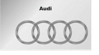 Audi car logo in CorelDraw | Corel Draw