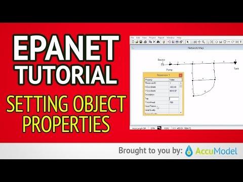 EPANET Tutorial 02.05 - Setting Object Properties | Hydraulic Modeling