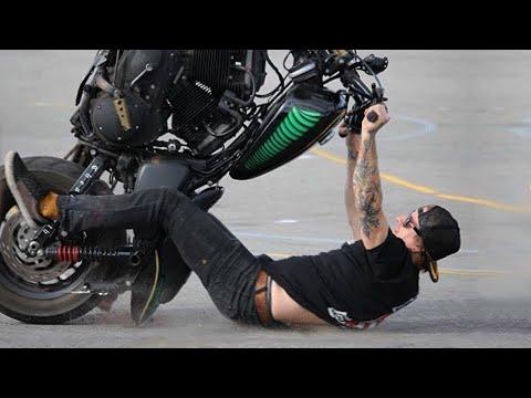 ТОП неудачных прыжков на мотоцикле
