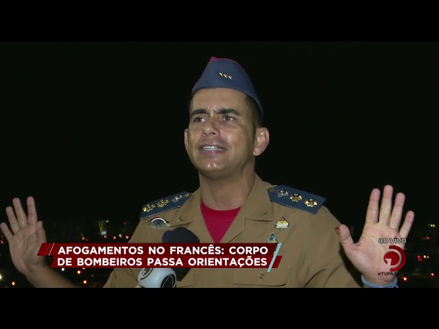 Afogamentos no Francês: Corpo de Bombeiros passa orientações