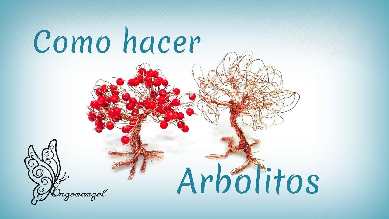 Como hacer un Arbolito con cable de cobre por Mari Carmen Lozano - Orgonangel