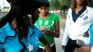 me,nene,tutti,kiara,tweetie at da bus stop foolin n phat gurl recording it