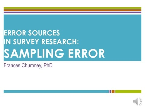 Introduction to Error Sources in Survey Research: Sampling Error