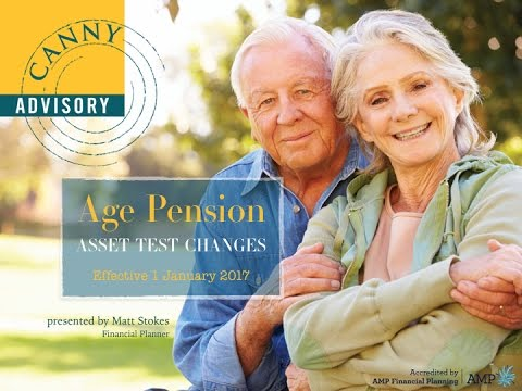 Age Pension - Asset Test Changes 2017