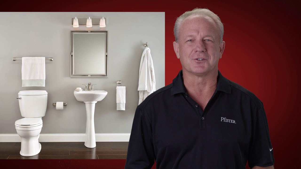Installing A Pfister Faucet Tissue Paper Holder With The Clicklock