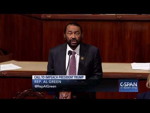 Rep Al Green Impeachment Resolution Against President Trump CSPAN