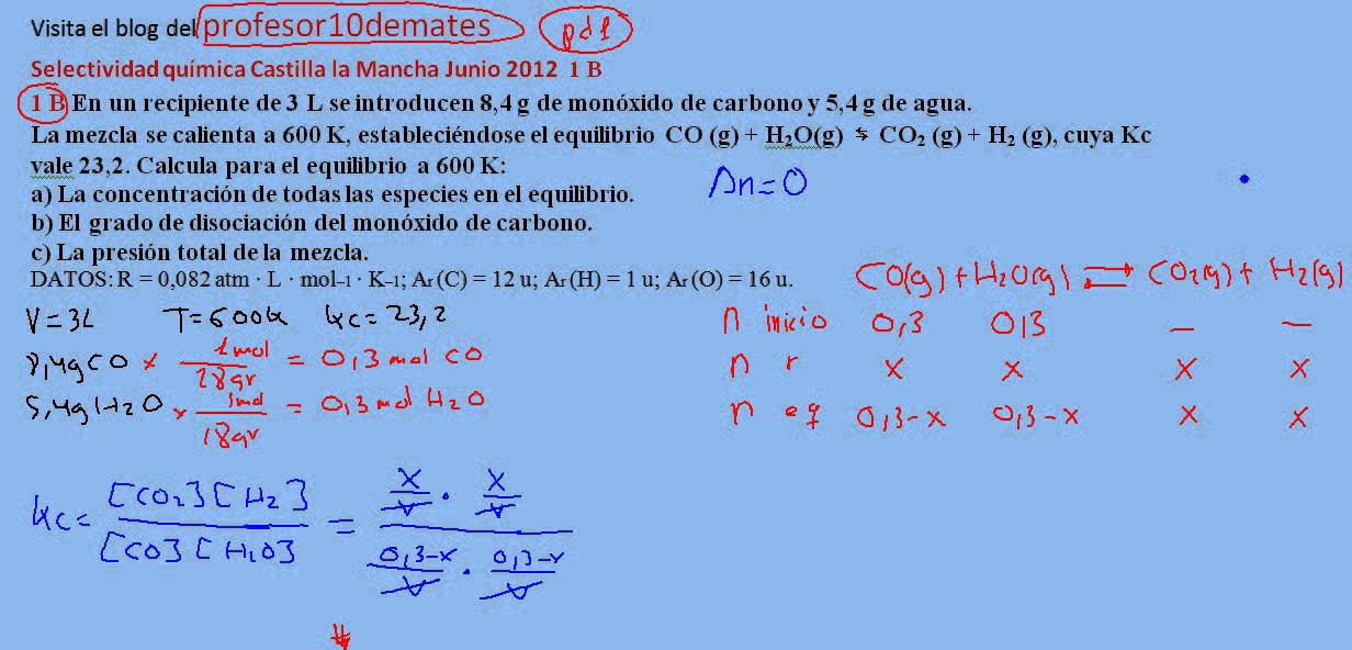 ejercicios de quimica 2 bachillerato resueltos pdf