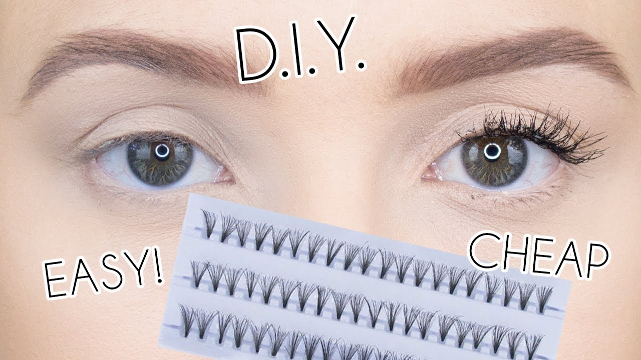 c8293685654 HOW TO APPLY INDIVIDUAL LASHES ON YOURSELF | DIY EYELASH EXTENSIONS  (TEMPORARY)