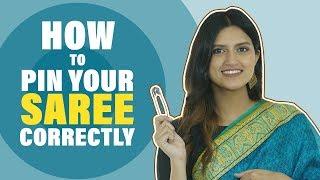 How To Pin Y๐ur Saree Correctly | Saree Draping Hacks | MissMalini Fashion | MissMalini