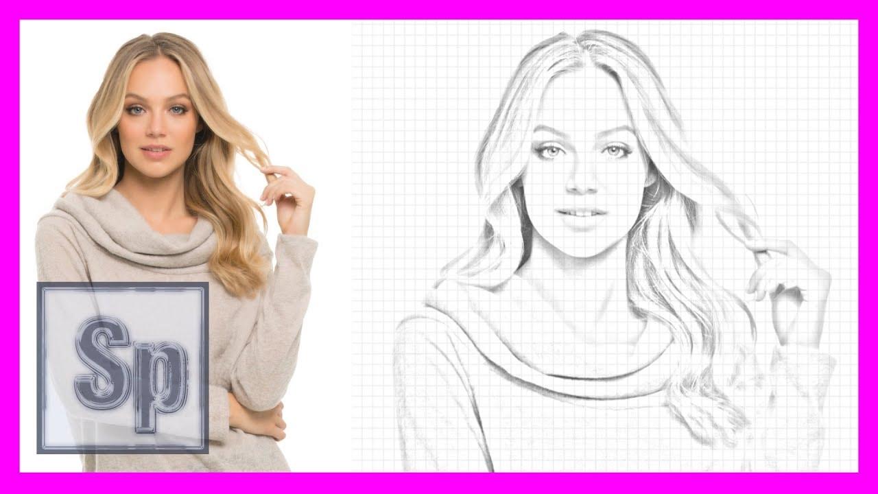 Photoshop convertir foto a dibujo a lápiz usando photoshop tutorial en español hd