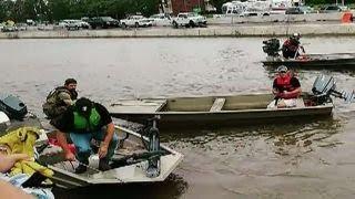 Cajun Navy brings boats to help Harvey victims