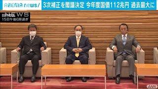 第3次補正予算案が閣議決定(2020年12月15日) - YouTube