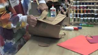 KIDS CRAFTS - Paper Bag Vest - a HOW TO