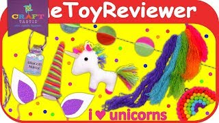 Craft-tastic I Love Unicorns Kit Kids Craft Plush Necklace Unboxing Toy Review by TheToyReviewer
