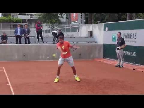 Stan Wawrinka Roland Garros 2016 practice
