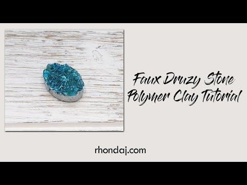 Faux Druzy Tutorial - Polymer Clay