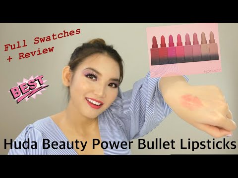 HUDA BEAUTY THE ICONS FULL REVIEW+SWATCHES [BST THE ICONS Của Dòng Son Power Bullet Matte Lipstick
