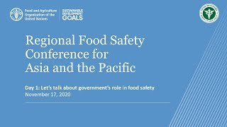 Food safety in the era of COVID-19: Day 1, 17 November 2020