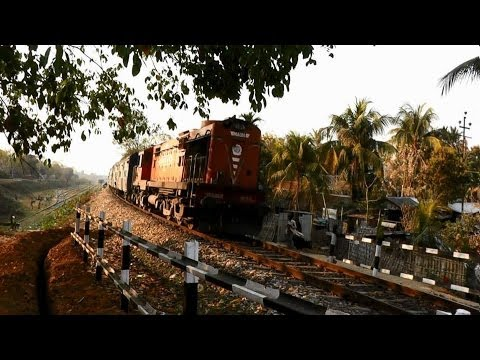 Trains in Action near Lumding (Feb. 28, 2013)