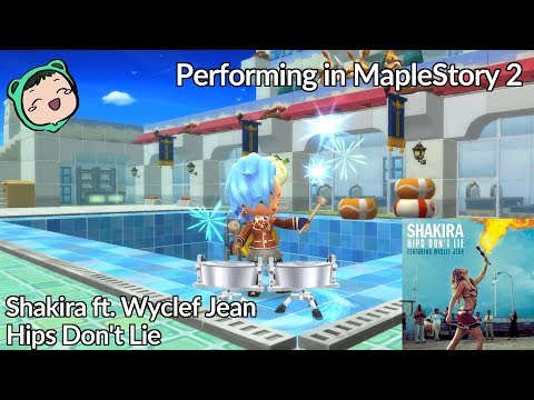 Shakira ft. Wyclef Jean - Hips Don't Lie - Performing in MapleStory 2