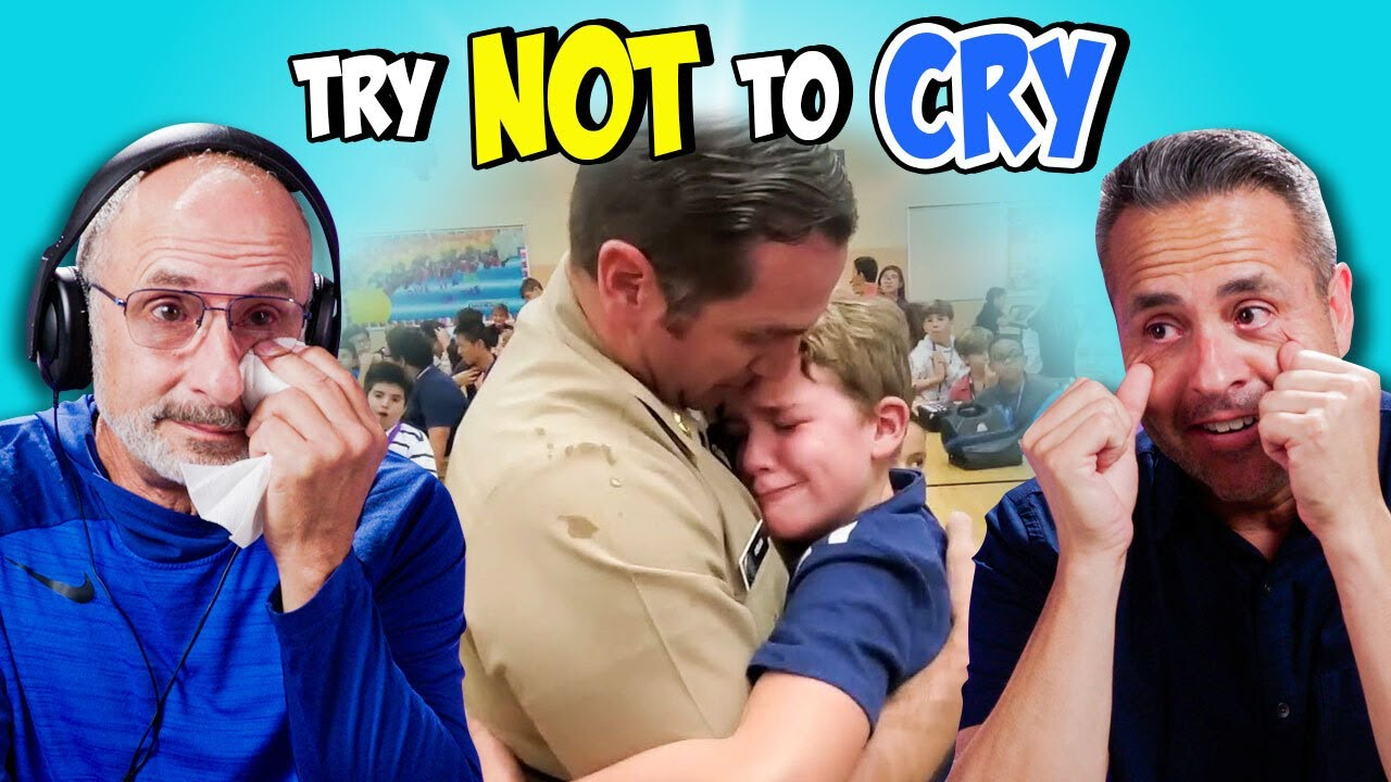 Dads React to Try Not To Cry Challenge (Father's Day 2021)