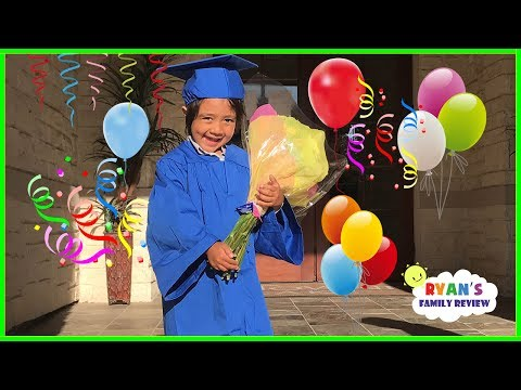 Ryan's Preschool Graduation!!  Friend's Birthday Party Indoor Playground with Ryan's Family Review