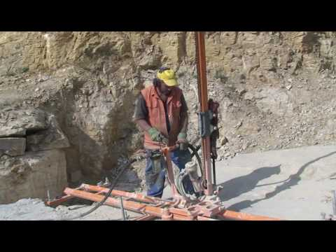 BL28-A Pneumatic mobile rock drill / Line drilling machine