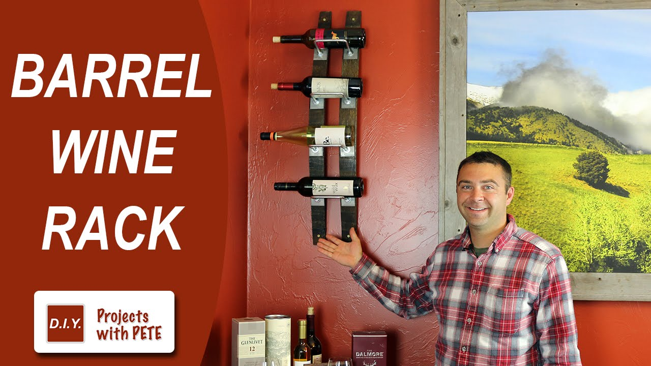 How To Make A Barrel Wine Rack Wine Barrel Staves Youtube
