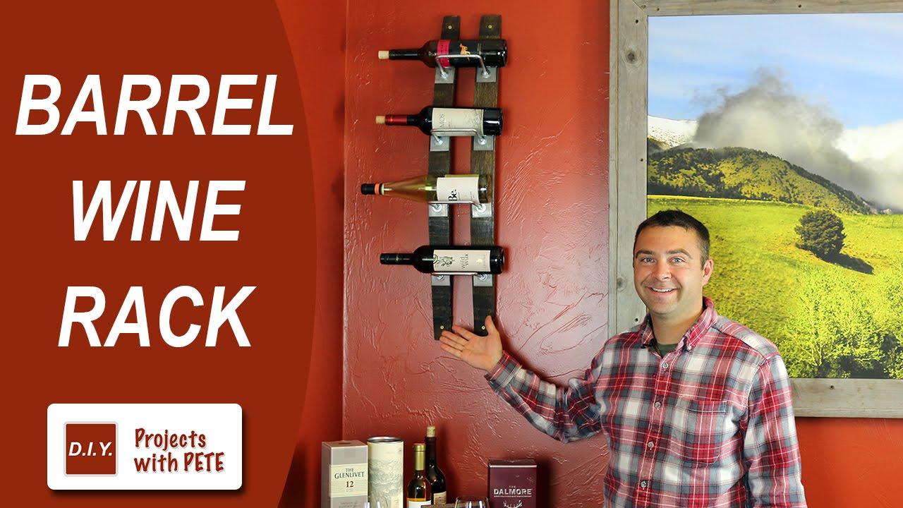 How To Make A Barrel Wine Rack Wine Barrel Staves Youtube