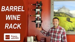 How to Make a Barrel Wine Rack | Wine Barrel Staves