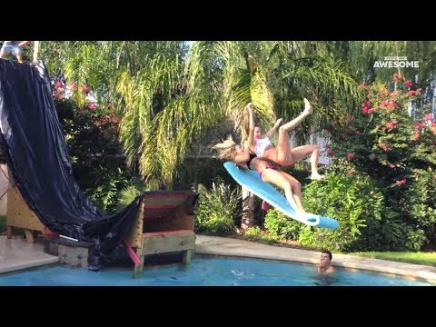 Swimming Pool Tricks, Flips & Dives | People Are Awesome