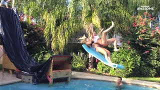Swimming Pool Tricks, Flips and High Dives! | People Are Awesome