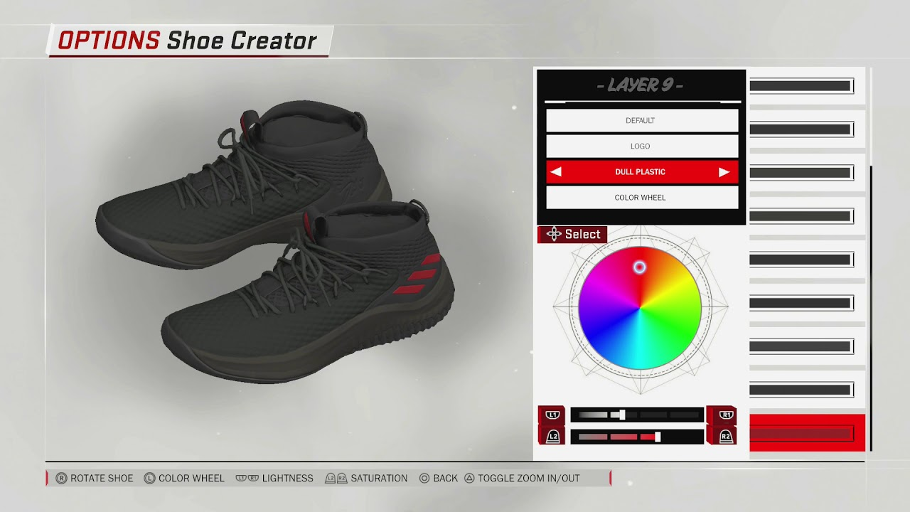 NBA 2K18 Shoe Creator | Dame 4 Black Red PE