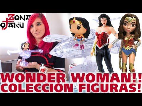 colección-de-figuras-de-wonder-woman!!!-funko-pop-con-avión-invisible,-rock-candy,-artfx+