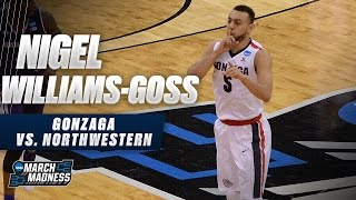Gonzaga's Nigel Williams-Goss with 20 points vs. Northwestern