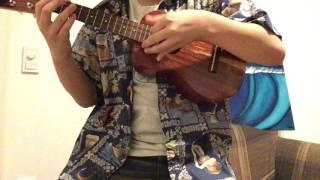 """ジェイク・シマブクロの""""Orange World""""を弾いてみた。15歳中学生"""