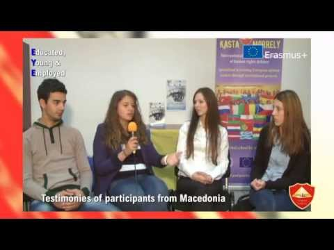 Testimonies of participants from Macedonia - EYE Educated Young Employed