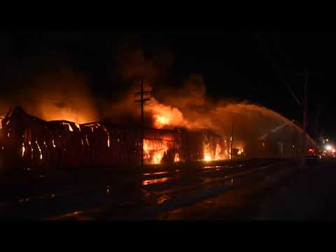 Fire at former Ames plant