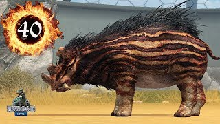 Уинтатерий 40 Носорог с 6 Рогами Uintatherium прокачка Древнего животного Jurassic World The Game