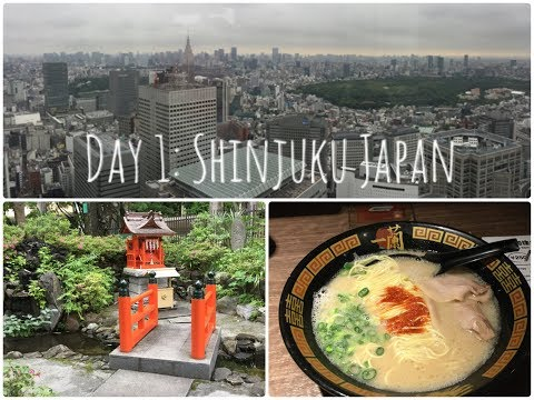 Travel Day and Day 1: Shinjuku Japan