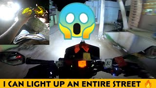 Beastu Mode😎 - Full Power Of My 19,000 Rs Gold Runway Fog Lights | Really Powerful🔥| Enowaytion Plus